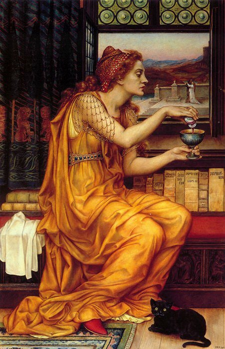 """The Love Potion"" (Το ερωτικό φίλτρο), πίνακας του 1903 από την Evelyn De Morgan (1855–1919)"