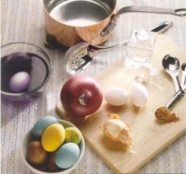 Αυγά πασχαλινά βαμμένα με φυσικές βαφές