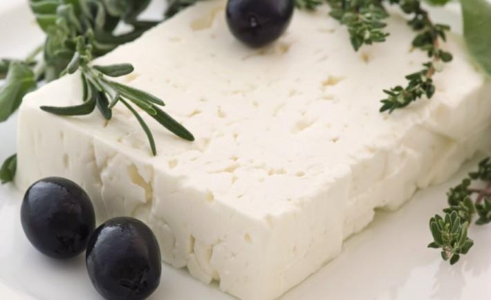 Φέτα Ένα ΠΟΠ είδωλο Άσπρο νόστιμο τυρί