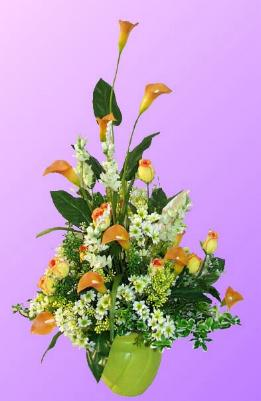 Συνθέσεις με μεταξωτά λουλούδια