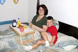 Πρωινό στο κρεβάτι για τη Γιορτή της Μητέρας