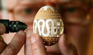 Από τα παραδοσιακά πασχαλινά έθιμα στα σύγχρονα προϊόντα υψηλού επιπέδου Διακοσμητικά σκαλιστά χειροποίητα αβγά