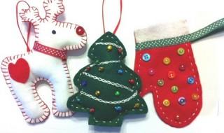 Πως να κάνετε χριστουγεννιάτικα στολίδια από τσόχα