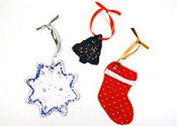 Πώς να κάνετε χριστουγεννιάτικα στολίδια από τσόχα