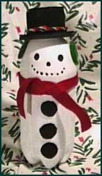 Χιονάνθρωπος χειροτεχνία για παιδιά