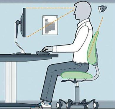 Πως να έχετε εργονομικά σωστή στάση σώματος στο γραφείο .