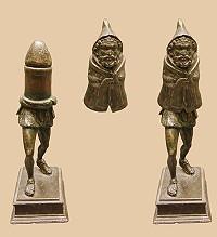 Μεταγενέστερο ρωμαιογαλατικό αγαλματίδιο του Πρίαπου (1ος αι. μ.Χ.) που βρέθηκε στη Γαλλία το 1771.
