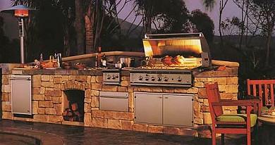 Φτιάξε μια χτιστή εξωτερική κουζίνα