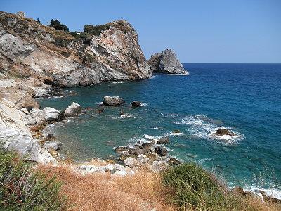 Ο βράχος του Κάστρου από την παραλία