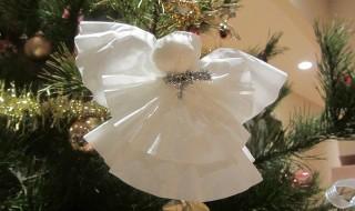 Χαριτωμένα αγγελάκια φτιαγμένα από φίλτρα καφέ Χριστουγεννιάτικα στολίδια Κατασκευές χειροτεχνία
