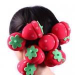 Ρόλεϊ για τα μαλλιά σε σχήμα φράουλας για φορμάρισμα και μπούκλες