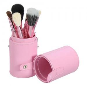 Σετ 12 ροζ πινέλα μακιγιάζ