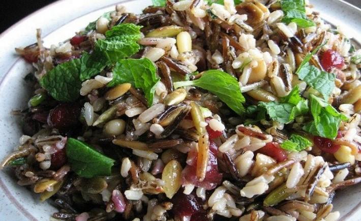 Φακές Σαλάτα με Άγριο Ρύζι