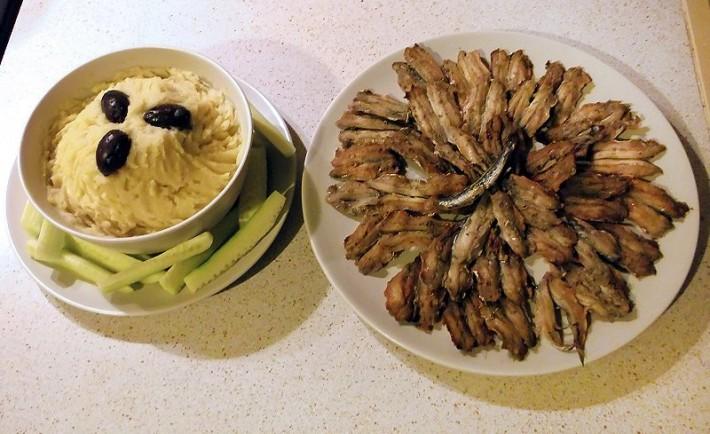 Σαρδέλα σχαριστή - ουζομεζές